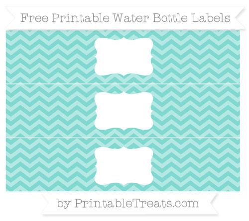 Free Tiffany Blue Chevron Water Bottle Labels