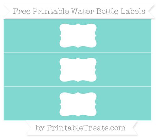 Free Tiffany Blue Water Bottle Labels
