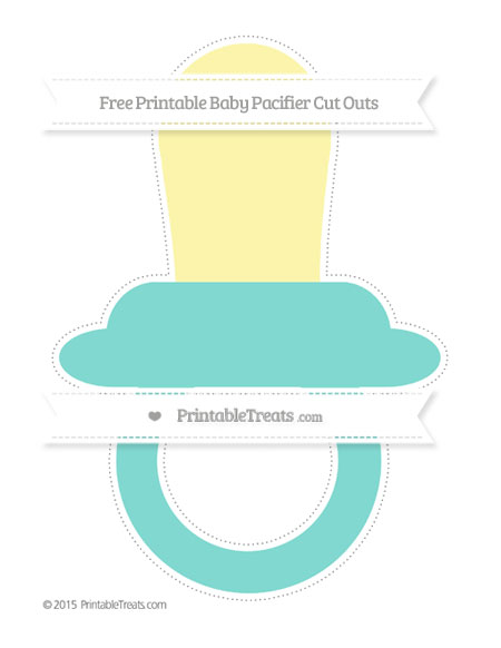 Free Tiffany Blue Extra Large Baby Pacifier Cut Outs