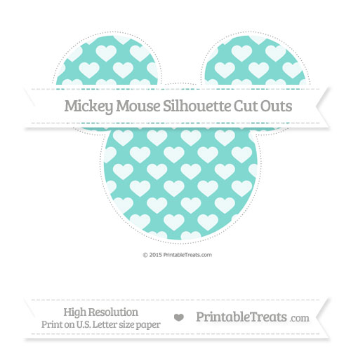 Free Tiffany Blue Heart Pattern Extra Large Mickey Mouse Silhouette Cut Outs