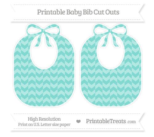 Free Tiffany Blue Herringbone Pattern Large Baby Bib Cut Outs