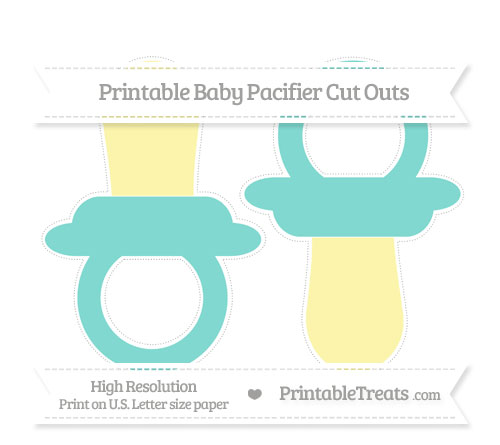 Free Tiffany Blue Large Baby Pacifier Cut Outs
