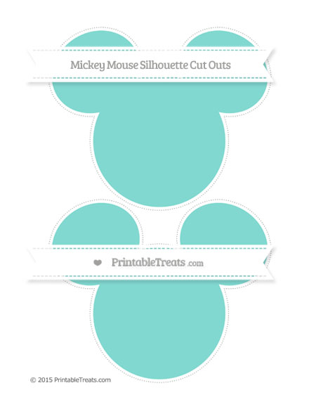 Free Tiffany Blue Large Mickey Mouse Silhouette Cut Outs