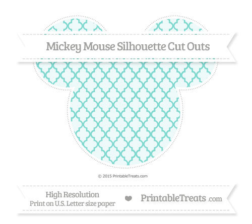Free Tiffany Blue Moroccan Tile Extra Large Mickey Mouse Silhouette Cut Outs