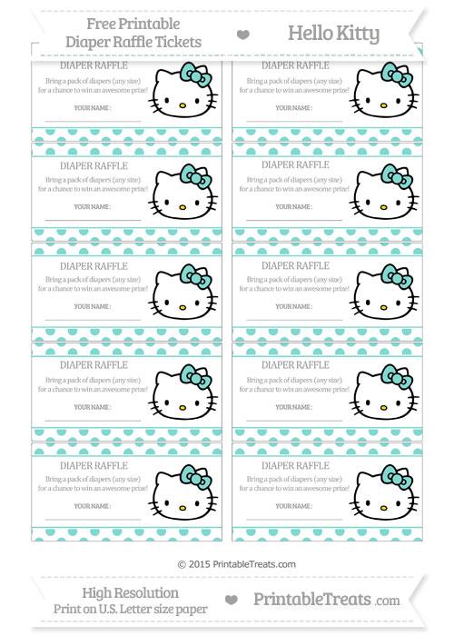 Free Tiffany Blue Polka Dot Hello Kitty Diaper Raffle Tickets