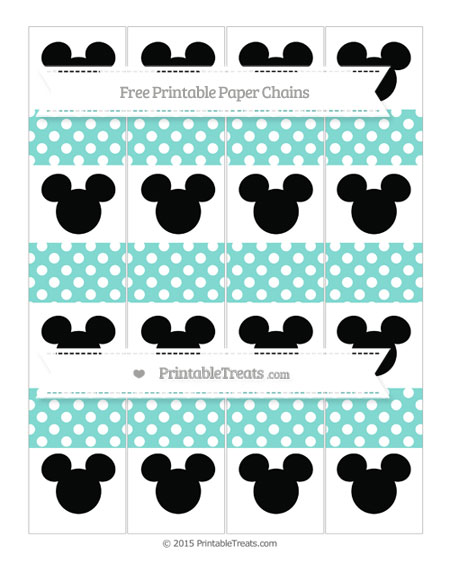 Free Tiffany Blue Polka Dot Mickey Mouse Paper Chains