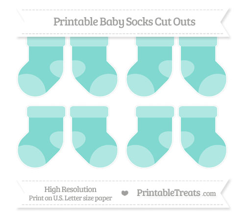 Free Tiffany Blue Small Baby Socks Cut Outs