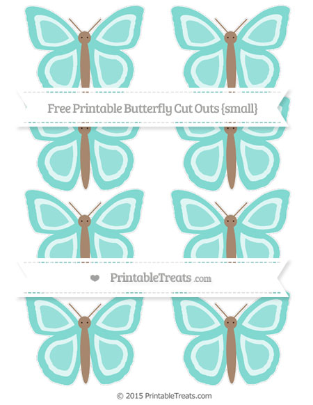Free Tiffany Blue Small Butterfly Cut Outs
