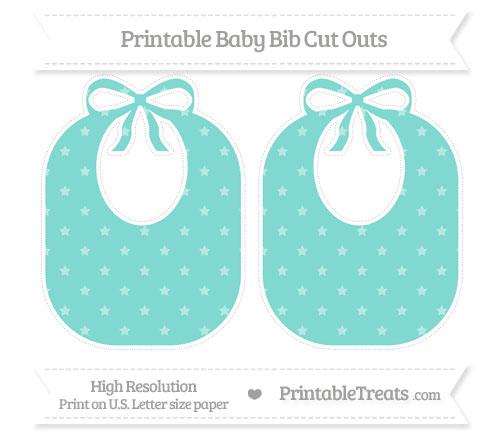 Free Tiffany Blue Star Pattern Large Baby Bib Cut Outs