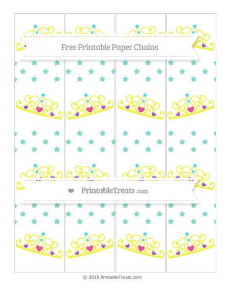 Free Tiffany Blue Star Pattern Princess Tiara Paper Chains