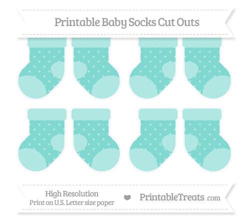 Free Tiffany Blue Star Pattern Small Baby Socks Cut Outs