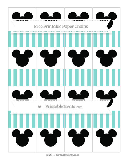 Free Tiffany Blue Striped Mickey Mouse Paper Chains