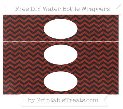 Free Turkey Red Chevron Chalk Style DIY Water Bottle Wrappers