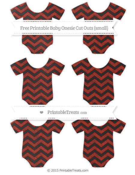 Free Turkey Red Chevron Chalk Style Small Baby Onesie Cut Outs