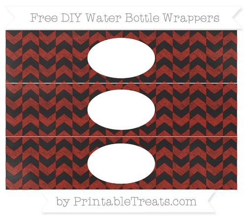 Free Turkey Red Herringbone Pattern Chalk Style DIY Water Bottle Wrappers