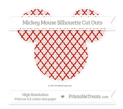 Free Turkey Red Moroccan Tile Extra Large Mickey Mouse Silhouette Cut Outs