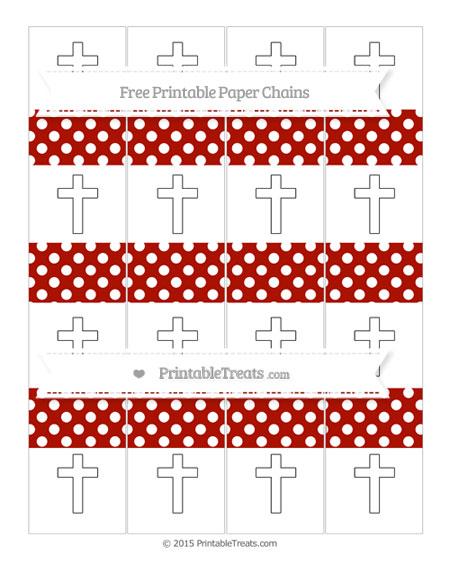 Free Turkey Red Polka Dot Cross Paper Chains