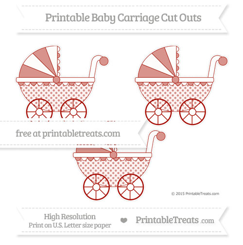 Free Turkey Red Polka Dot Medium Baby Carriage Cut Outs