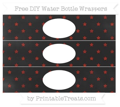 Free Turkey Red Star Pattern Chalk Style DIY Water Bottle Wrappers