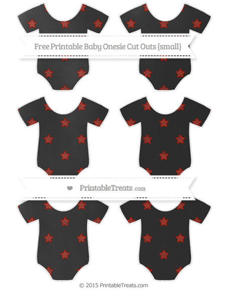 Free Turkey Red Star Pattern Chalk Style Small Baby Onesie Cut Outs
