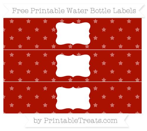 Free Turkey Red Star Pattern Water Bottle Labels
