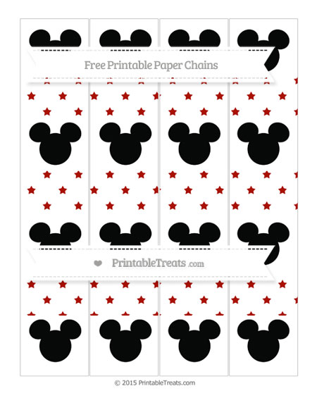 Free Turkey Red Star Pattern Mickey Mouse Paper Chains