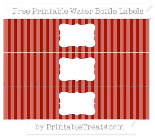 Free Turkey Red Striped Water Bottle Labels