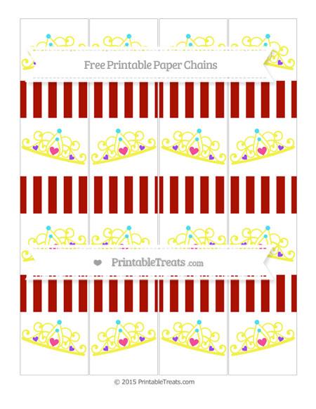 Free Turkey Red Striped Princess Tiara Paper Chains