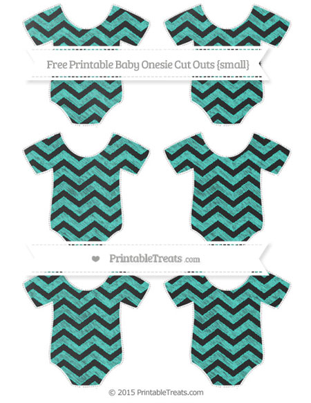 Free Turquoise Chevron Chalk Style Small Baby Onesie Cut Outs