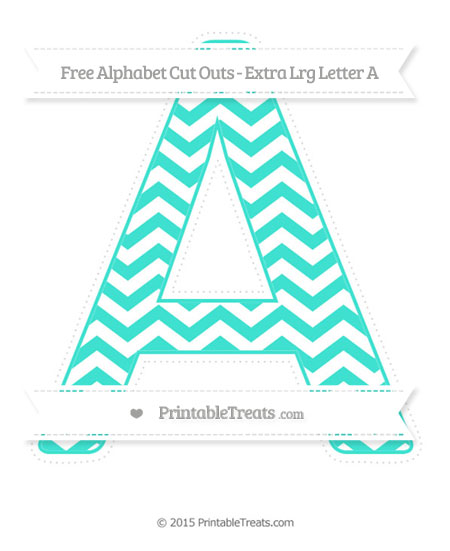 Free Turquoise Chevron Extra Large Capital Letter A Cut Outs