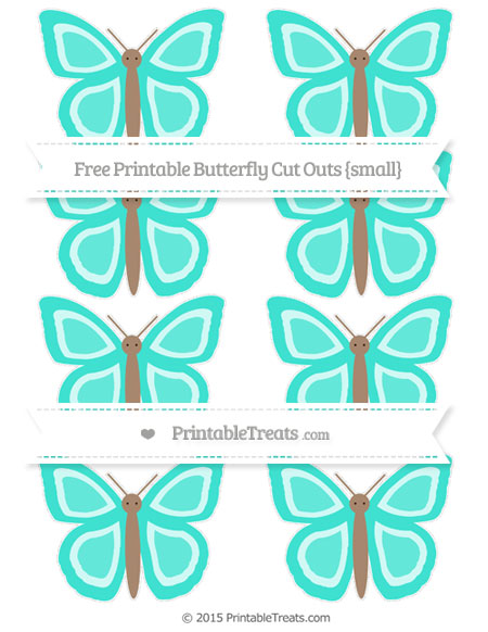 Free Turquoise Small Butterfly Cut Outs