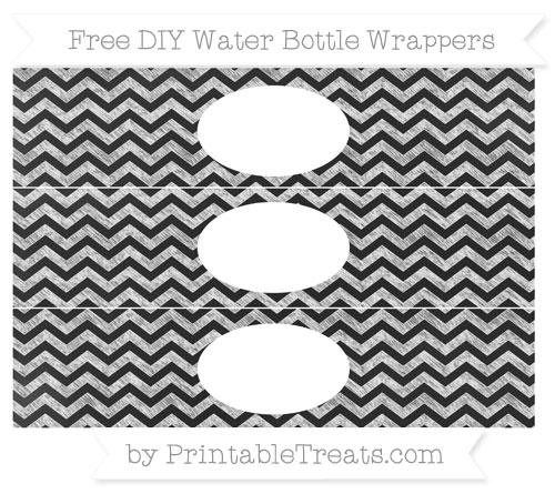 Free White Chevron Chalk Style DIY Water Bottle Wrappers