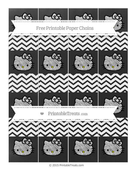 Free White Chevron Chalk Style Hello Kitty Paper Chains