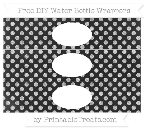 Free White Dotted Pattern Chalk Style DIY Water Bottle Wrappers