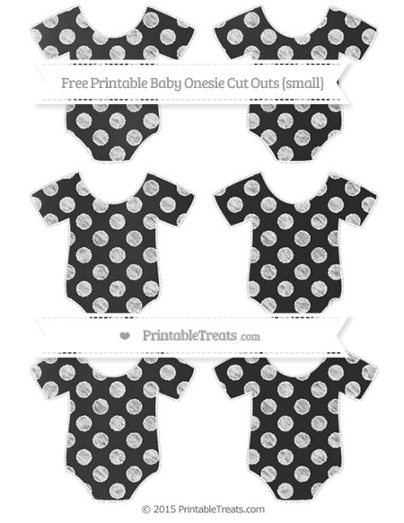 Free White Dotted Pattern Chalk Style Small Baby Onesie Cut Outs