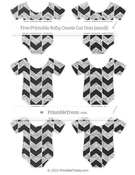 Free White Herringbone Pattern Chalk Style Small Baby Onesie Cut Outs