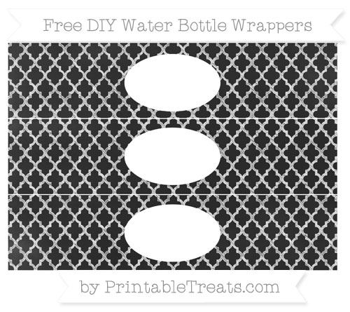 Free White Moroccan Tile Chalk Style DIY Water Bottle Wrappers