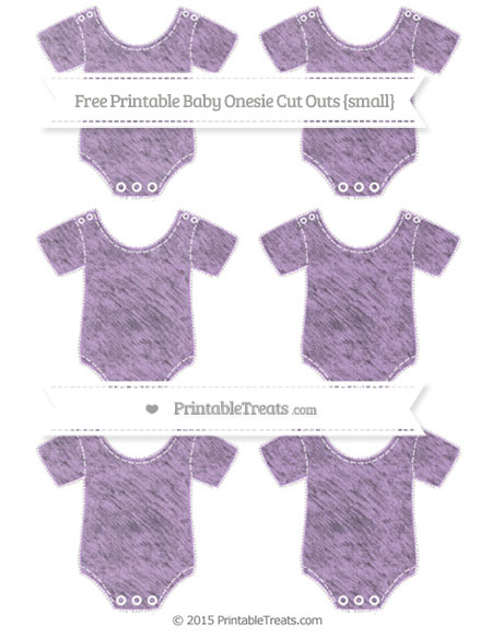 Free Wisteria Chalk Style Small Baby Onesie Cut Outs