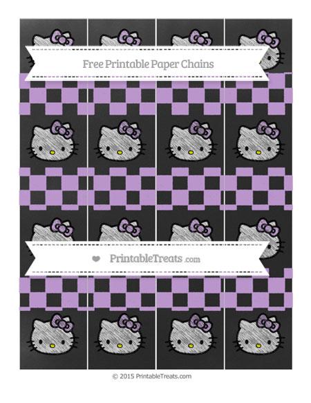 Free Wisteria Checker Pattern Chalk Style Hello Kitty Paper Chains