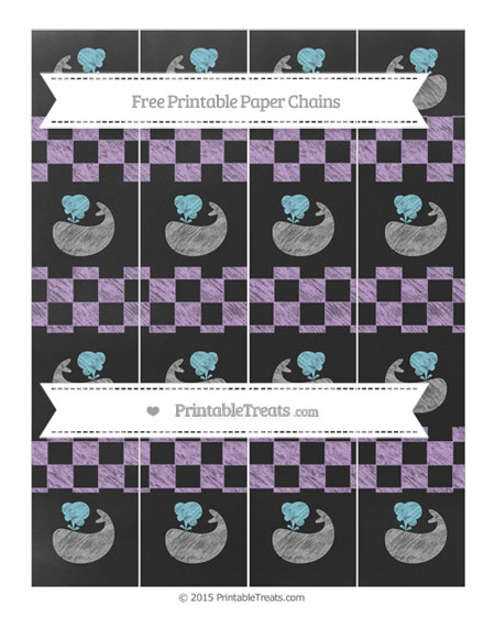 Free Wisteria Checker Pattern Chalk Style Whale Paper Chains