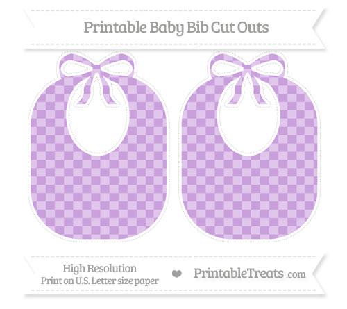 Free Wisteria Checker Pattern Large Baby Bib Cut Outs