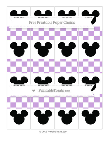 Free Wisteria Checker Pattern Mickey Mouse Paper Chains