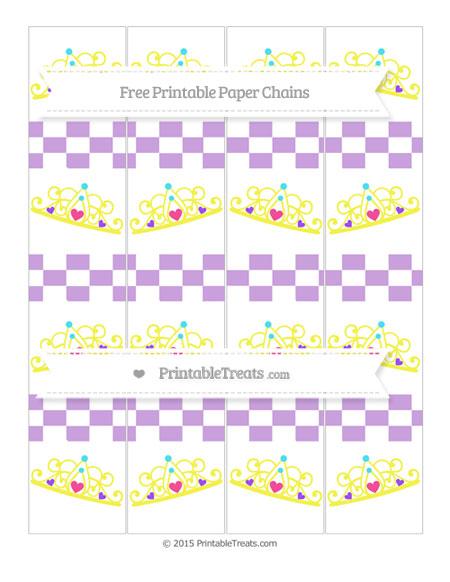 Free Wisteria Checker Pattern Princess Tiara Paper Chains
