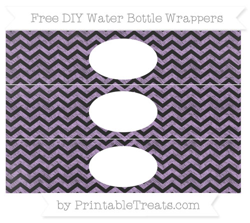 Free Wisteria Chevron Chalk Style DIY Water Bottle Wrappers