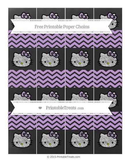 Free Wisteria Chevron Chalk Style Hello Kitty Paper Chains