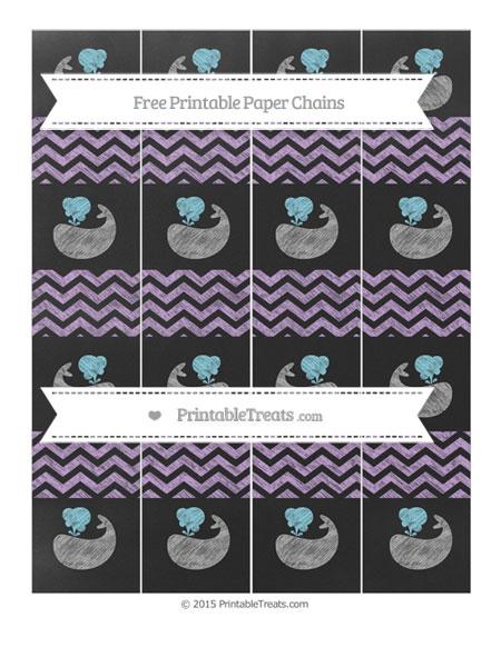 Free Wisteria Chevron Chalk Style Whale Paper Chains