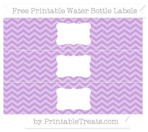 Free Wisteria Chevron Water Bottle Labels