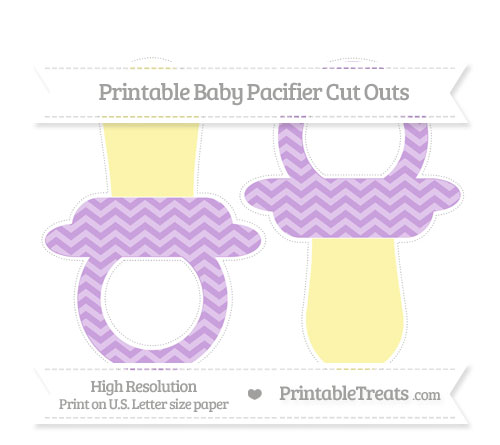 Free Wisteria Chevron Large Baby Pacifier Cut Outs
