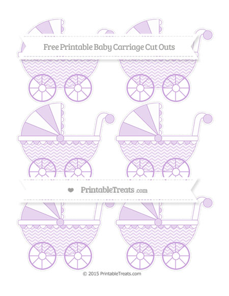 Free Wisteria Chevron Small Baby Carriage Cut Outs