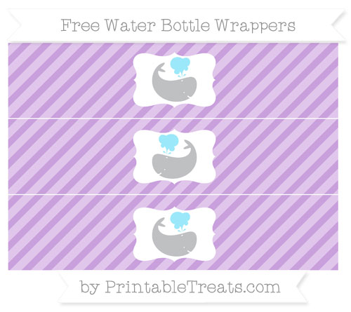 Free Wisteria Diagonal Striped Whale Water Bottle Wrappers